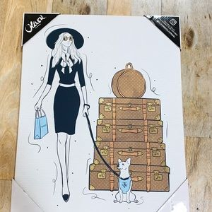 Oliver Gal Wall Art - A Girl & her dog 🐶